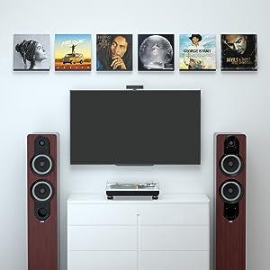 vinyl record wall shelf
