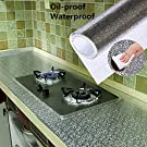 kitchen wall paper 2 meters oil-proof aluminum foil wall desk floor waterproof