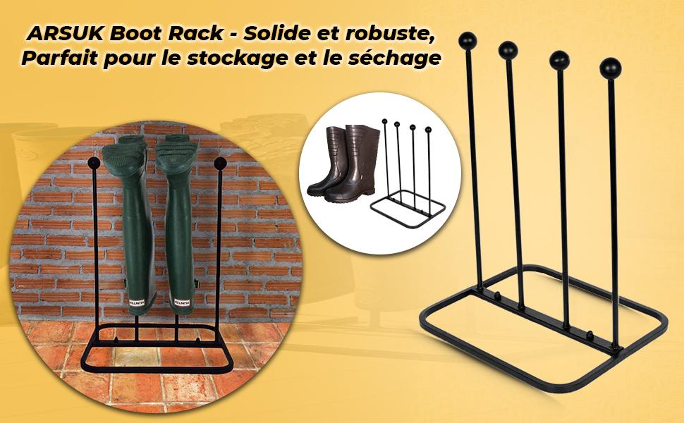 welly, stand, wellies, support, extérieur, wellington, 2 paires, porte-bottes