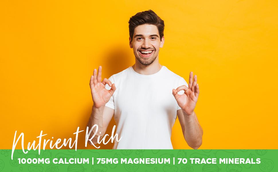 VegLife Red Marine Calcium 1000mg Bioavailable Calcium Red Algae Magnesium 70 Trace Minerals 90 Tabs