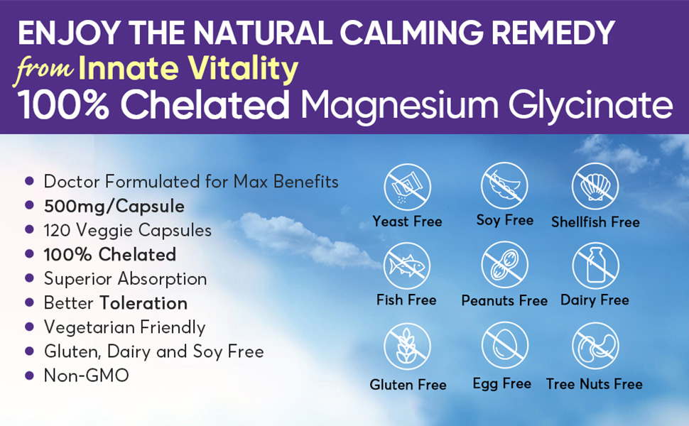 Innate vitality magnesium glycinate 100% chelated