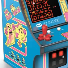 My Arcade Micro Player Mini Arcade Machine: Ms. Pac-Man Video Game, Fully Playable, 6.75 Inch Collectible, Color Display, Speaker, Volume Buttons, ...