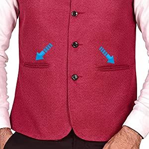 ethnic crafted traditional casual party enhance fashion boys mens vests trend in men cherry jacket