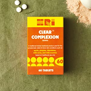 Burdock Root and Blue Flag Rhizome Tablets HRI Clear Complexion To Relieve Mi