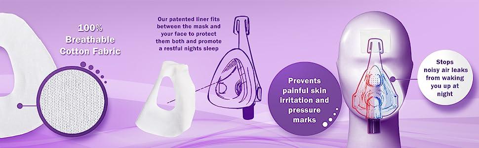 Cpap máscara de forro de cpap máscara de cara completa remzzzs cpap máscara máscara máscara máscara