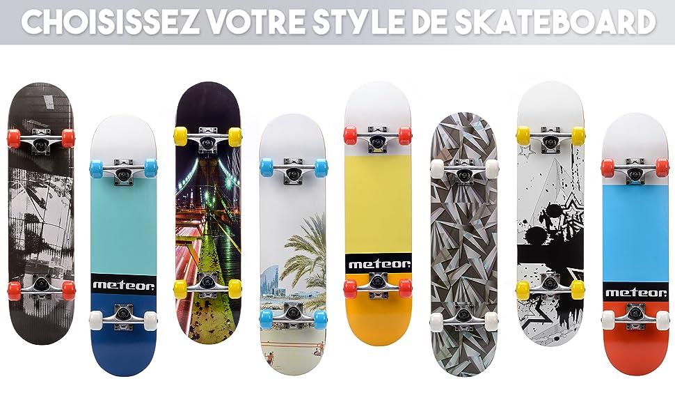 Vikaster Fancy Board Vintage Mini Cruiser Complete Bois v/éritable /Érable Canadien Skateboard Ridge Mini Skate Planche a roulettes r/étro
