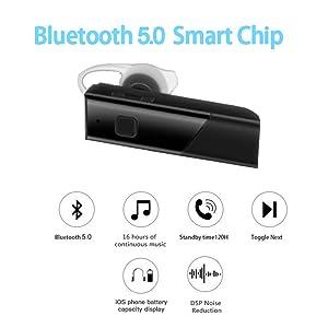 bluetooth 5.0 wireless earphone with mic