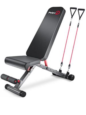 pelpo, weight bench adjustable, Gray
