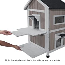 Can the floors be removable?