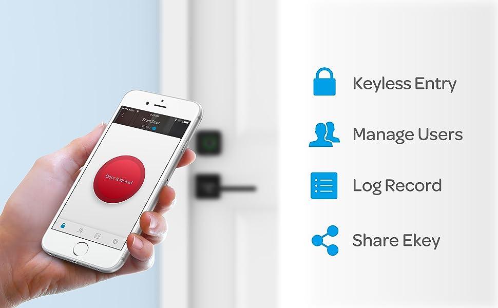 door lock smart lock keyless entry door lock deadbolt lock