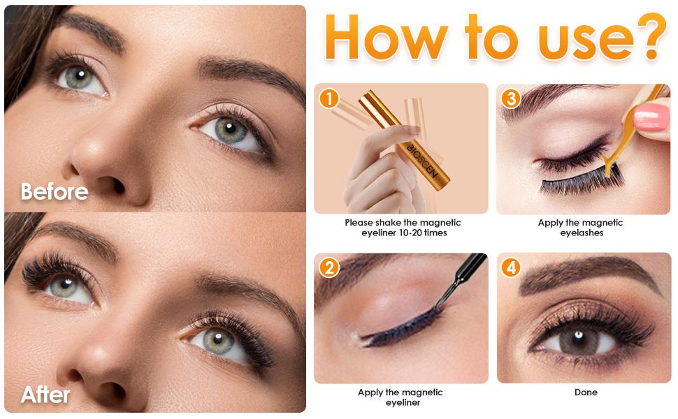 magnetic eyeliner and magnetic eyelashes Kit
