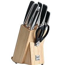Knife set block german blade carving cutco cutlery ceramic dishwasher cooking dishwasher Cuisinart