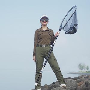 玉網を持って、釣るのはもっと楽しい