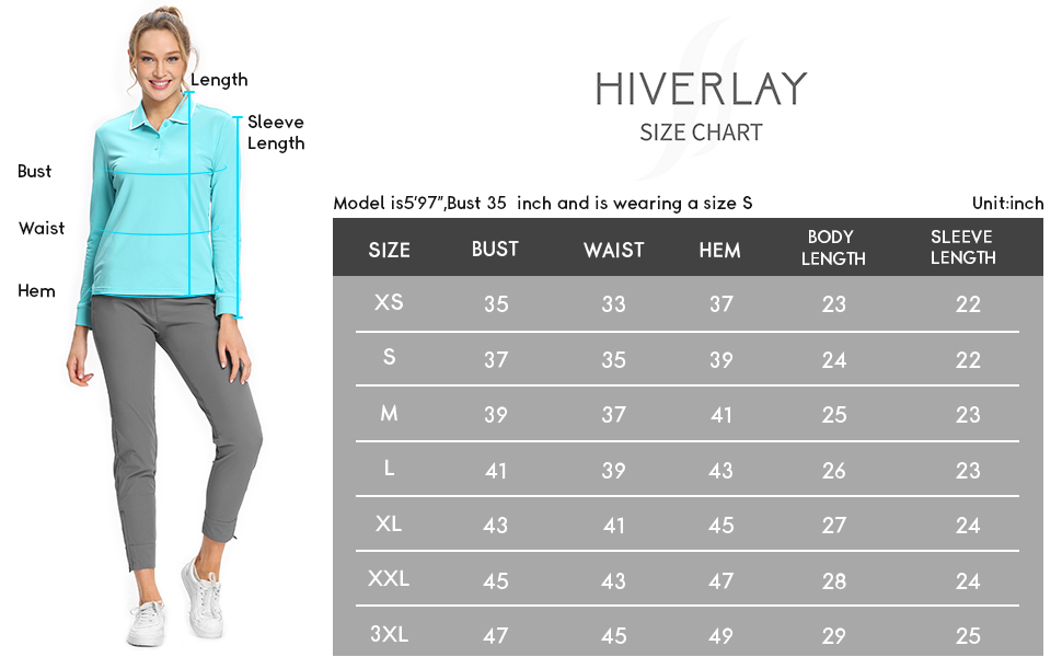 Golf Polo Shirts for Women Long Sleeve UPF 50+ Tennis Tops Casual Athletic collared Shirts