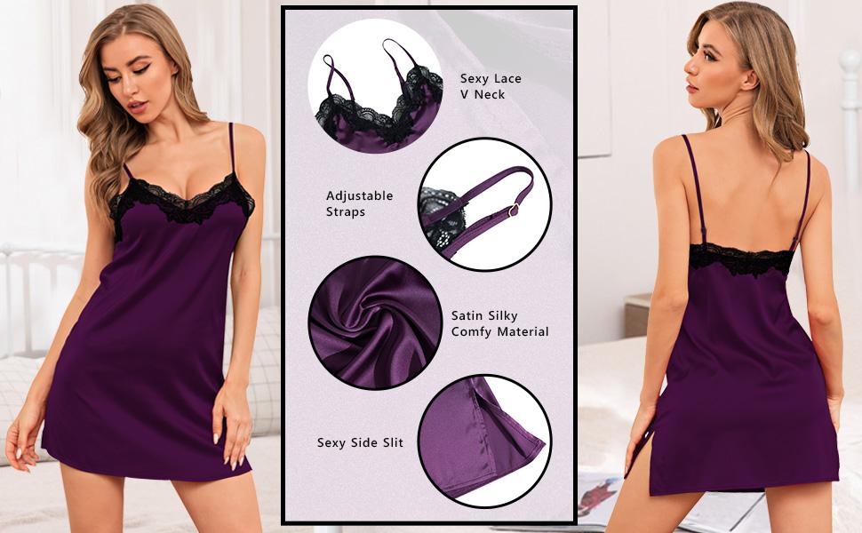 women spaghetti straps sleepwear dress