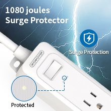 7 outlets surge protector