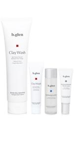 洗顔 お試し クレイ モンモリロナイト 低刺激 肌に優しい うるおい 乾燥 にきび 肌荒れ ふきでもの 保湿 bglen b.glen ビーグレン ビバリーグレン トライアル