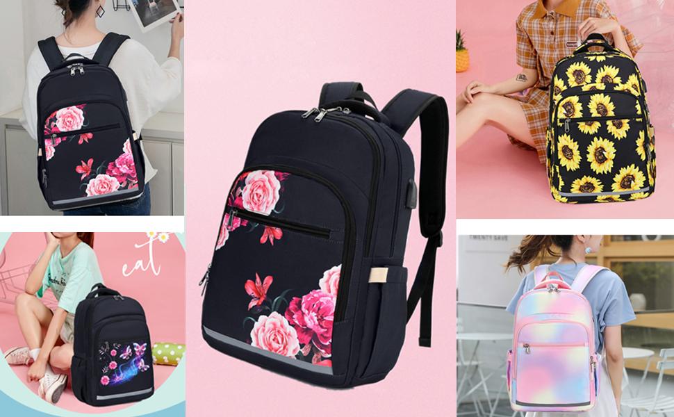 women travel backpack