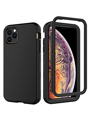 """iPhone 11 Pro Max 6.5"""" Inch Heavy Duty 3 Layer Shockproof Drop Proof Case Cover Black"""