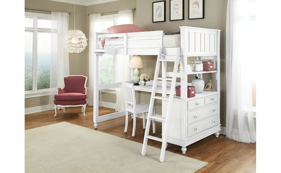 bd furniture and decor.htm amazon com pemberly row kids twin wood loft bunk bed with desk  pemberly row kids twin wood loft bunk