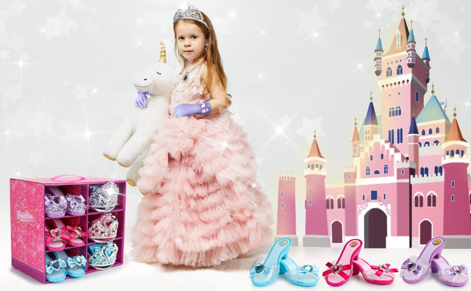 Girl Princess Dress  Up Shoes Set
