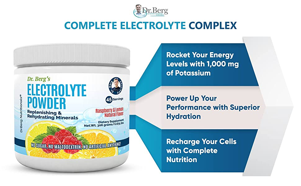 Dr. Eric berg electrolyte powder with trace minerals no GMO Glutten Free