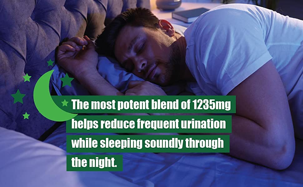 most potent blend of 1235mg helps reduce frequent urination while sleeping soundly through the night