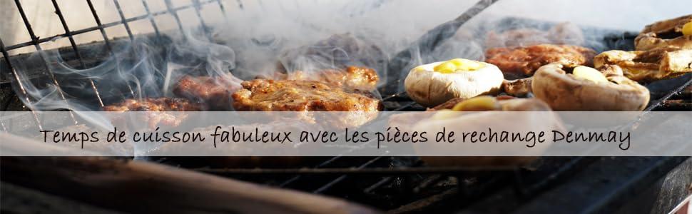 Denmay 7637 69799 Barbecue Grille de Cuisson en Fonte