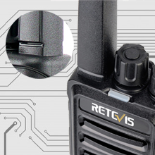 walkie-talkies with integrated fixed antenna