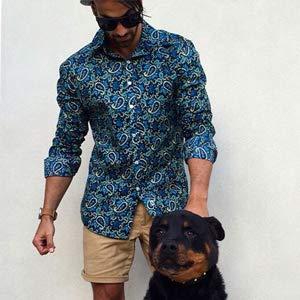 COOFANDY Men's Floral Dress Shirt Slim Fit Casual Paisley Printed Shirt