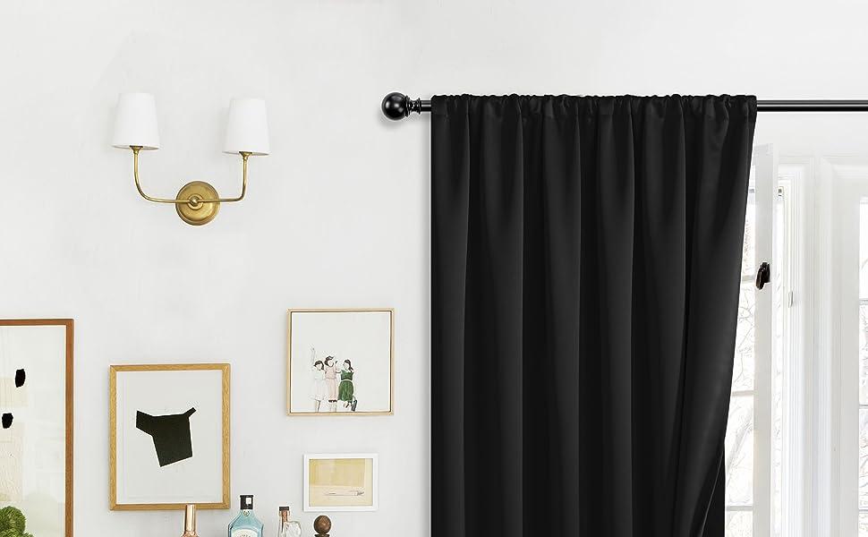 100% rod pocket blackout curtains for bedroom
