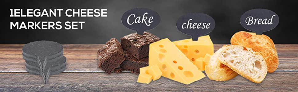 Cheese Markers Set, 5 Chalkboard Labels, Christmas Gift Idea, Cheese Name Tags, Chalk Markers