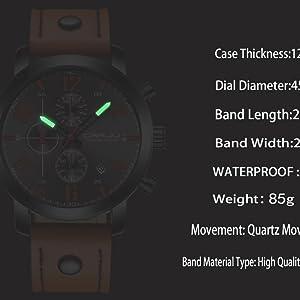 Men's watch men's black watch