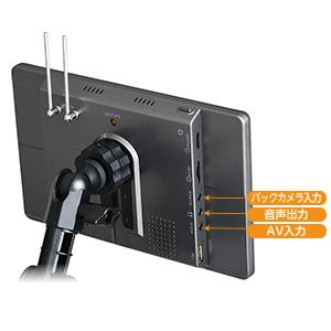 バックカメラ 、DVD、スピーカー等と接続できる外部入出力端子