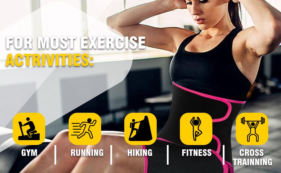 3 in 1 Neoprene Butt Lifter Body Belt Skatheal Workout Waist Trainer for Women Fitness