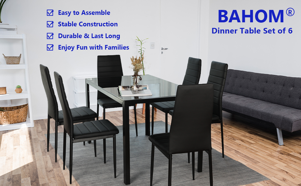 kitchen dining table set for 6 person