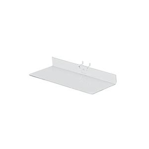 12 x 4 inch Clear Acrylic Shelf for Pegboard