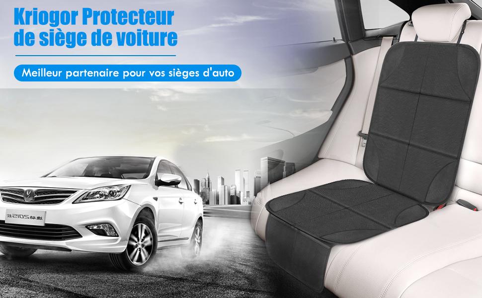 Protecteur de si/ège de voiture Tissu Hydrofuge 600D,2 Poches Organisateur de Voiture Kriogor 2PCS Housse pour si/ège auto enfant pour Si/èges Dauto pour Enfants et B/éb/és