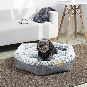 warm dog bed large dog pet bed dog bolster bed soft pet cat bed washable pet bed