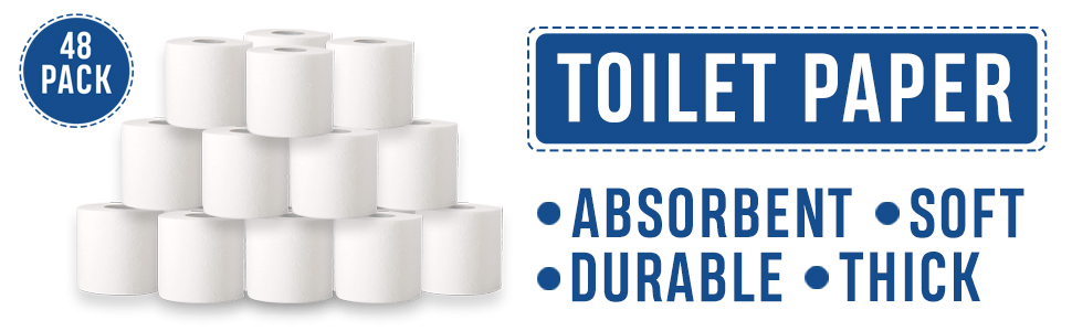toilet paper tp soft white absorbent thick durable safe disposable