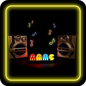 Pac-Man iconos luz partido modo