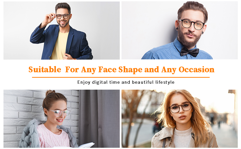 unisex blue light blocking glasses