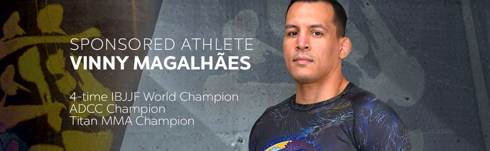 SPONSORED ATHLETE VINNY MAGALHÃES  4-time IBJJF World Champion  ADCC Champion  Titan MMA Champion