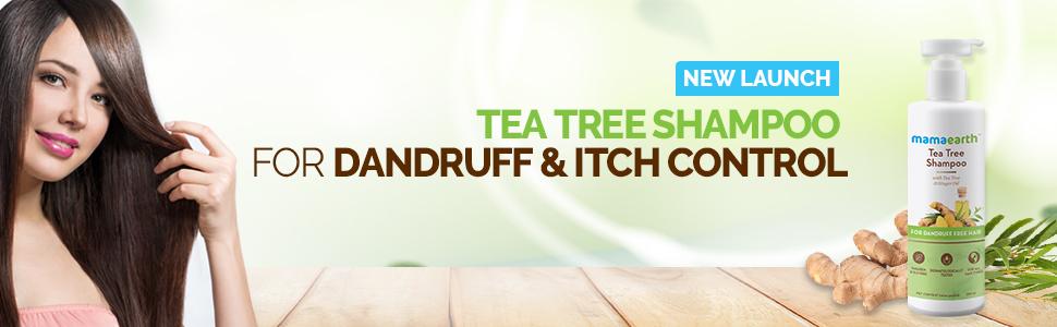 Mamaearth Tea Tree Anti Dandruff Shampoo, With Tea Tree & Ginger Oil