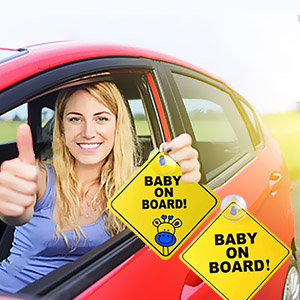 Baby on board sticker for cars .