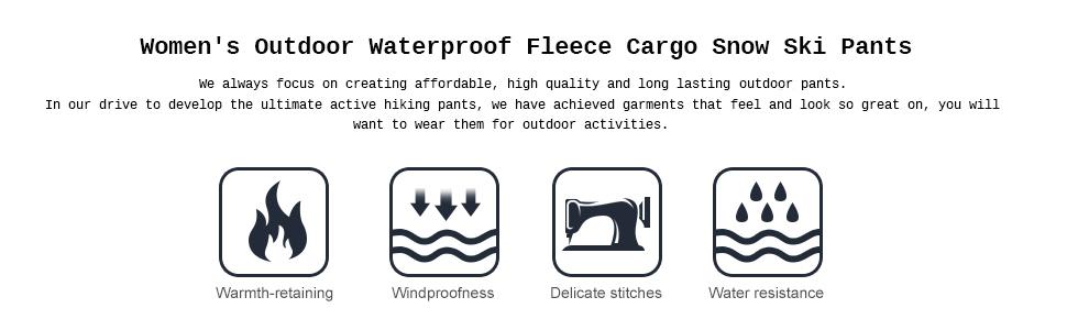 Snowboard Cargo Pants Women