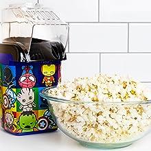 Uncanny Brands Marvel Kawaii Popcorn Maker- Avengers Assemble Kitchen Appliance