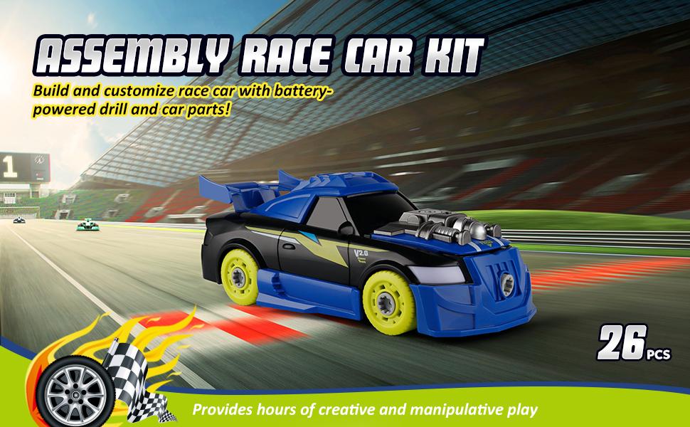 take apart construction toys Take Apart Toy Racing Car Kit.