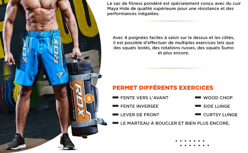 Couleur Al/éatoire Utiliser apr/ès Le Remplissage didatecar 1 Paquet Sac De Sable Fitness Poids Sand Power Bag Exercice Dentra/înement Sandbag 5//10//15//20 Kg