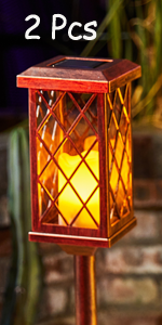 bronze solar lights garden stakes